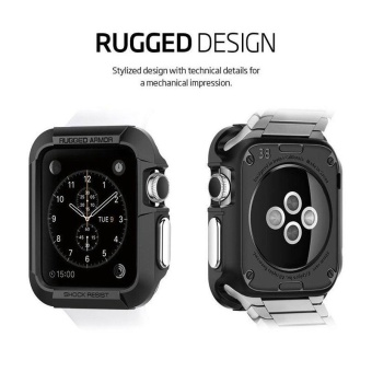 Second Generation Apple Watch Silicone Case Protection Case 42Mm Black - intl - 2