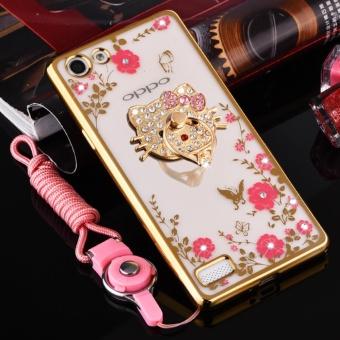 Philippines | Secret Garden Plating TPU phone case For OPPO F3 (Gold+KT) - intl The Best Cheap