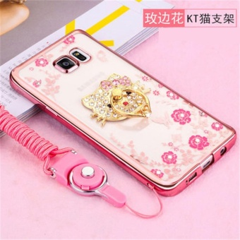Secret Garden Plating TPU phone case For Samsung Galaxy J7Prime/On7 2016 (Rose Gold+KT) - intl