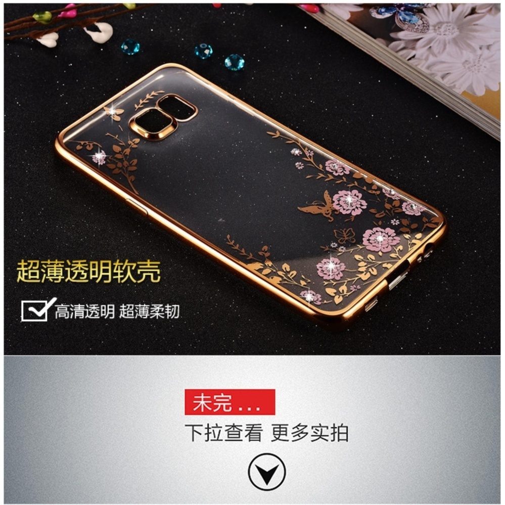 Secret Garden Plating TPU phone case For Samsung Galaxy S6 Edge(Gold+ .
