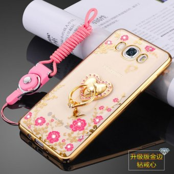 Secret Garden TPU Back Case Cover For Samsung Galaxy J7 2016 (LoveGold) - intl