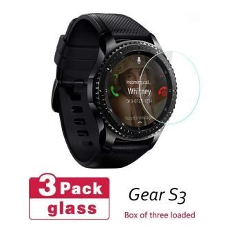 Seeme-Tempered Glass Screen Protector For Samsung Gear S3Glass(3PC)