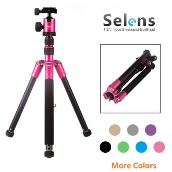 Selens Professional 62inch T-170 Tripod & Monopod with BallHead for DSLR Camera (Magenta)
