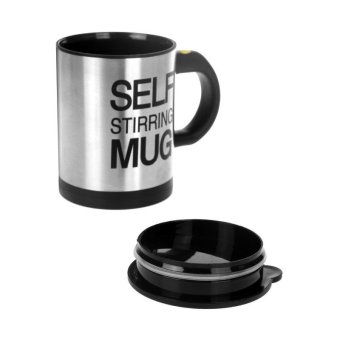 Self Stirring Coffee Mug (Black/Silver) - picture 2