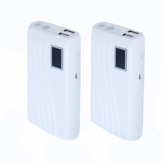 Set of 2 - Alien Power AP-055 20,000mAh Portable Power Bank withFlashlight (White)