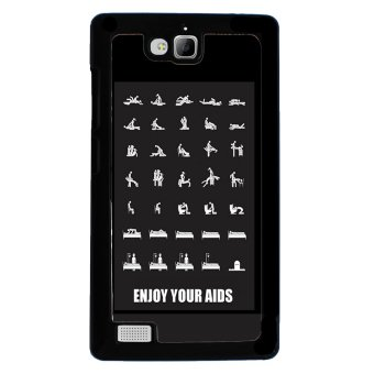 Sex Funny Pattern Phone Case for Huawei Honor 3C (Black)