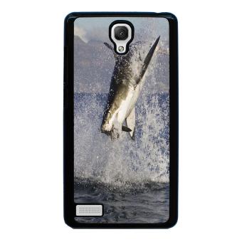 Shark Marine Pattern Phone Case for Xiaomi Redmi Note (Black)