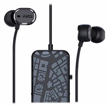 【Ship from Japan】AKG N20 NC Hybrid type Noise canceling canal type earphone for Android / iOS switch with remote control with remote control microphone Black AKGN 20NCBLK - intl