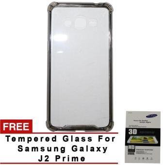 Shock-proof Back Case for Samsung Galaxy J2 Prime black with freetempred glass