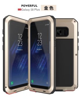 Shockproof Dustproof Water Resistant Aluminum Alloy Metal TemperedGlass Cover Case For Samsung Galaxy S8 Plus - intl