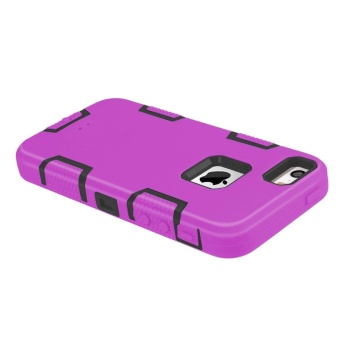 Shockproof Heavy Duty Combo Hybrid Defender High Impact Body RuggedHard PC & Silicone Case Protective Cover for Apple iPhone 5 5SSE - intl - 5