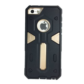 Shockproof Hybrid Case for Apple iPhone 4G/4S (Black/Gold) - picture 2