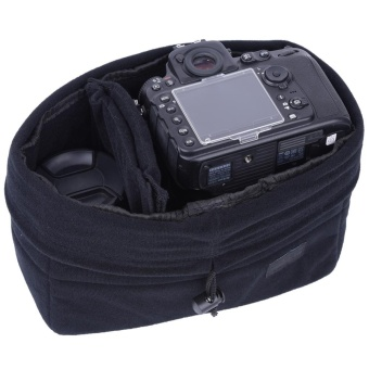 Shockproof Insert Partition Padded Camera Bag Protection Case ForDSLR Camera(Black) - intl - 5