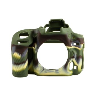 Shockproof Soft Silicone Skin Case Camera Cover Protector Bag forNikon D750 (Camouflage)