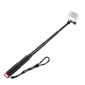 SHOOT 19'' inch Extension Monopod Tripod Selfie Stick Pole HandheldBar for Gopro Hero 4 3 3+ 2 1 SJCAM Xiaomi Yi Action Camera(Red)