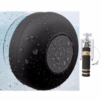 Shower Bluetooth Speaker (Black)with Mini Monopod Color May Vary Price Philippines