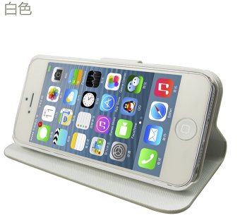 SHS Crushproof Faux Leather Flip Case for iPhone 5s