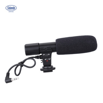 Sidande Mic-01 Digital Video DV Camera Studio Stereo Camcorder 3.5mm Recording Microphone for Canon Nikon Pentax Olympus Panasonic Digital SLR Camera - intl