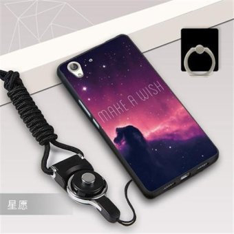 Silica Gel Soft Phone Case for Huawei Y6 II Huawei Honor 5A with aRope and a Ring (Multicolor) - intl Price Philippines