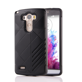 Silicon + PC Combo Case for LG G3 (Black) - Intl