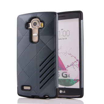 Silicon + PC Combo Case for LG G4 (Navy) - Intl