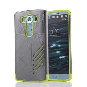 Silicon + PC Combo Case for LG V10 (Grey+Green)