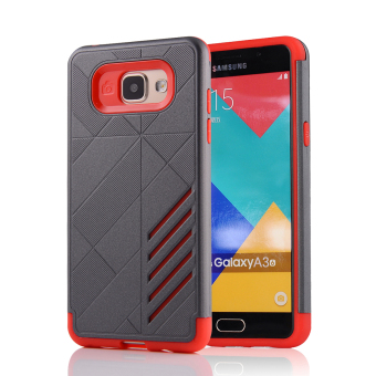 Silicon + PC Combo Case for Samsung Galaxy A3 (2016) A310 (Grey +Red) - Intl