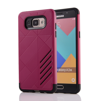 Silicon + PC Combo Case for Samsung Galaxy A3 (2016) A310 (HotPink) - Intl
