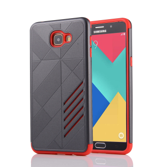 Silicon + PC Combo Case for Samsung Galaxy A9 (Grey+Red) - Intl