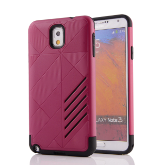 Silicon + PC Combo Case for Samsung Galaxy Note 3 N9000 (Hot Pink) - Intl