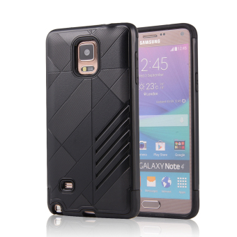 Silicon + PC Combo Case for Samsung Galaxy Note 4 N9100 (Black) -Intl