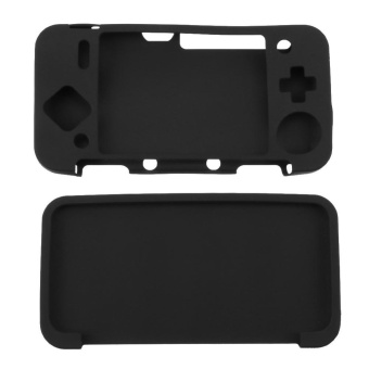 Silicone Cover Skin Case for New Nintendo 2DS XL /2DS LL GameConsole(Black) - intl
