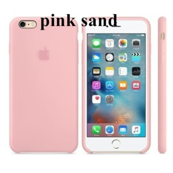 Silicone Protect Back Cover Case For Apple iPhone 6 Plus / 6s Plus(Pink Sand) - intl