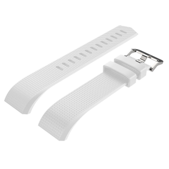 Silicone Replacement Watch Band Strap Bracelet for Fitbit Charge 2White