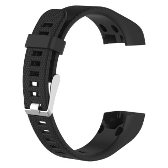 Silicone Watchband for Garmin Vivosmart HR+ Bracelet withTools(Black) - intl