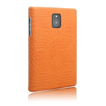 Simple Crocodile Stripe Protection Back Cover For Blackberry Passport Q30(Orange) - 3