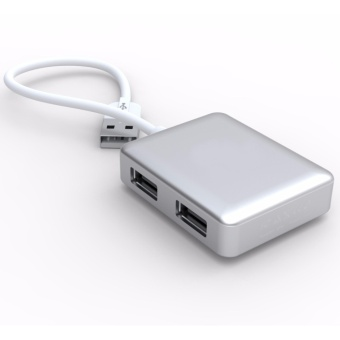 SIYOTEAM SY-H20 Ultra Slim 4-Port USB 2.0 Data Hub (Silver) - 4