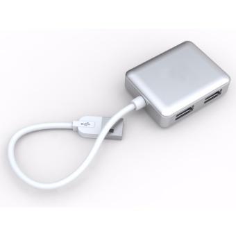 SIYOTEAM SY-H20 Ultra Slim 4-Port USB 2.0 Data Hub (Silver) - 3