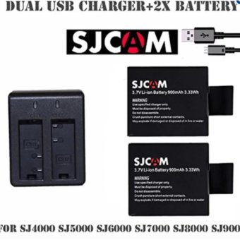 SJCAM Dual Slot Battery USB Charger CD-DX06 with 2 pieces 3.7vLi-Ion 900mAh SJCAM Battery Price Philippines