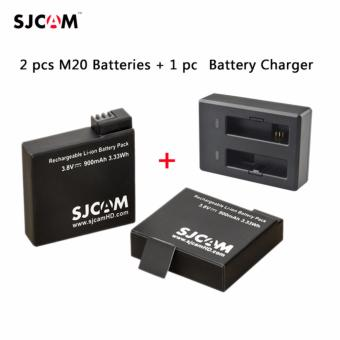 SJCAM M20 Dual Battery Charger with SJCAM Battery for M20 Set of 2 Price Philippines