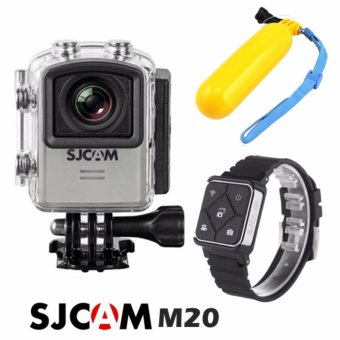 SJCAM M20 WIFI 16MP Action Camera (Silver) with Floater/Bobber(Yellow) and SJCAM Smart RF Remote Controller Shutter Watch (3Mwaterproof) Price Philippines