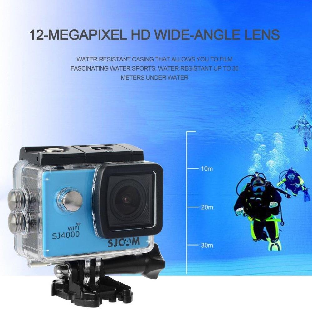 ... SJCAM SJ4000 WIFI Waterproof Sport Camera Full HD 1080P 12MP ActionCamera Blue - intl ...