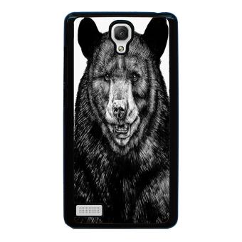 Sketch Bear Art Pattern Phone Case for Xiaomi Redmi Note (Black)