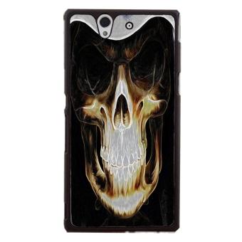 Skull Pattern Phone Case for Sony Xperia Z L36H (Black)