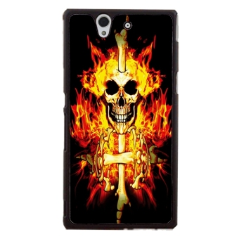 Skull Pattern Phone Case for Sony Xperia Z L36H (Multicolor)