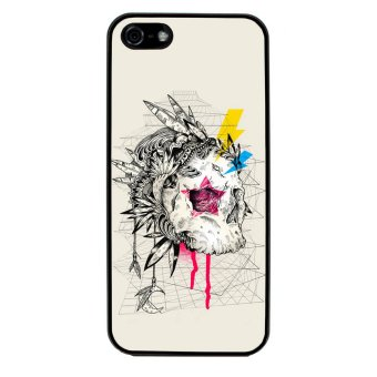 Skull Tattoo Patterned Pattern Phone Case for iPhone 5C (Black)