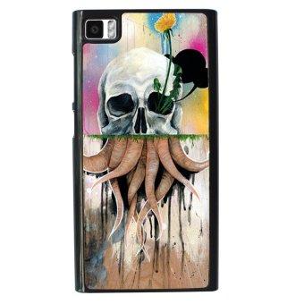 Skull Tattoo Patterned Pattern Phone Case for Xiaomi Mi3 (Black)