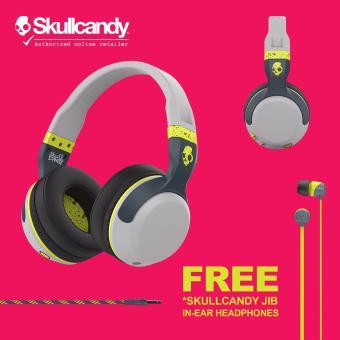 Skullcandy Hesh S6HBGY-384 Wireless / Bluetooth Headphone FREESkullcandy Jib In Ear (Grey/