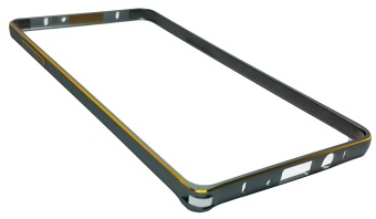 Sleek Metal Bumper for Samsung Galaxy A7 (Grey) - picture 2