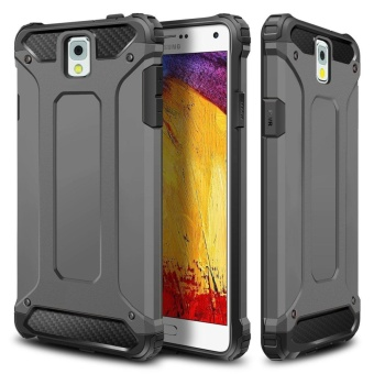 Slim Fit Rugged Hybrid Dual Layer Hard Shell Armor Impact Resistant Bumper Protective Back Case Shockproof Cover for Samsung Galaxy Note 3 - intl